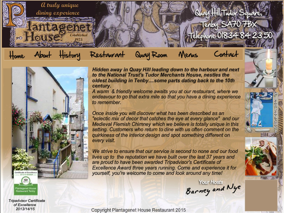 Plantagenet House Restaurant Tenby Wales