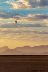 Hot air ballooning over Namib