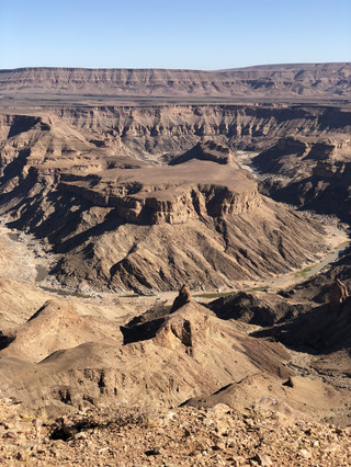 fView from the rim at Fish River Canyon