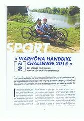 3 Articles de presse VCESQY Handisport.j