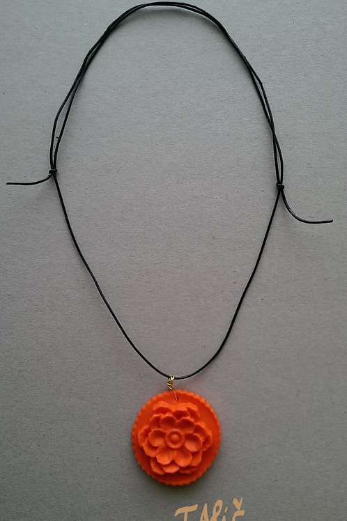 Product 17/2017 (Necklace with Orange Flower)