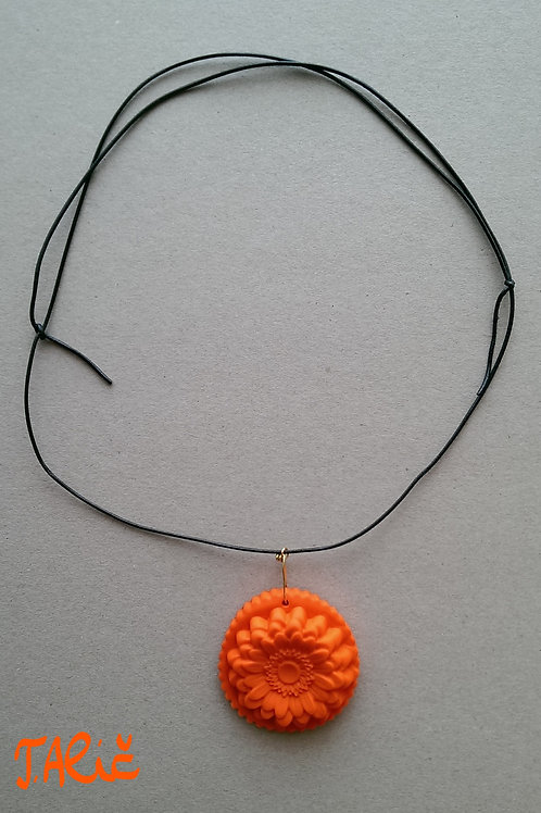Product 16/2017 (Orange Necklace with Flower)