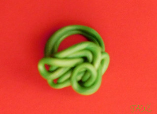 Ring in green color