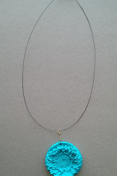 Product 04/2017 (Blue Necklace with Flower)