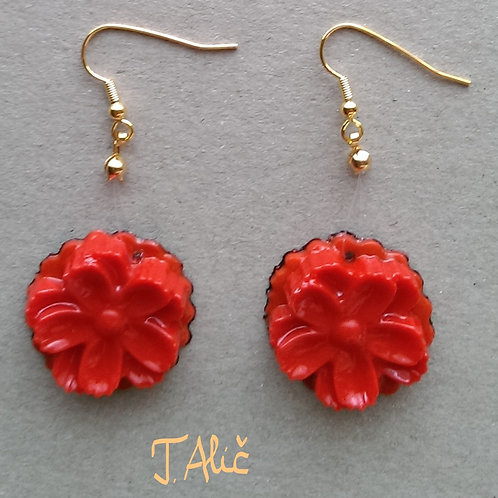 Product 39/2017 (Glossy Red Drop Earrings)