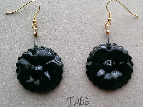 Product 45/2017 (Black glossy drop earrings)
