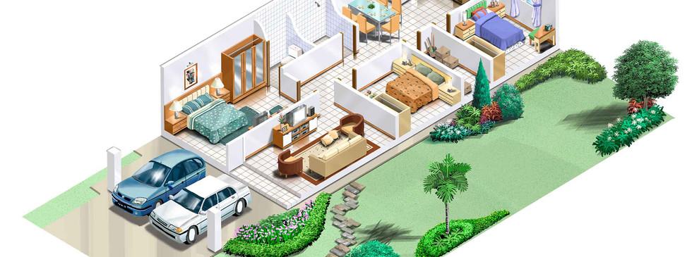 Single Storeyt Terrace - Isometric copy.