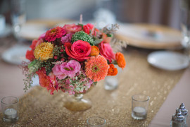 Wedding Reception Tables with Floral Cen