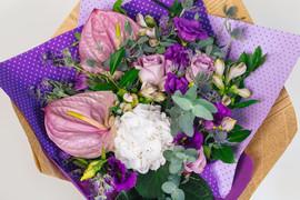Floral wedding arrangement with mixed fl