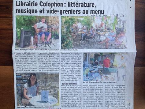 Le Dauphiné libéré: Un héritage grec, Marie-Diane Meissirel, éditions Daphnis et Chloé