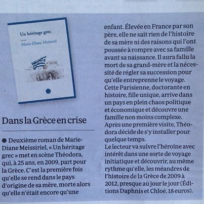 Le quotidien du médecin: Un héritage grec, Marie-Diane Meissirel, éditions Daphnis et Chloé