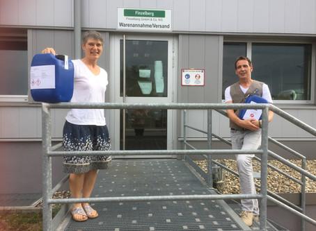 Firma Finzelberg aus Andernach spendet Handdesinfektion