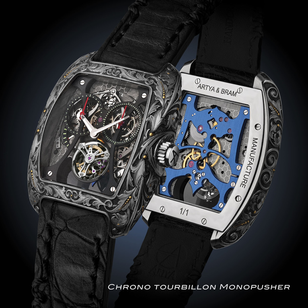 ArtyA Chrono tourbillon monopusher  tonn