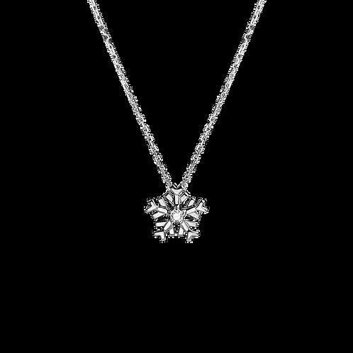 Snowflake Necklace one Diamond