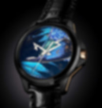 Front of the watch with the ArtyA COSC Movemen