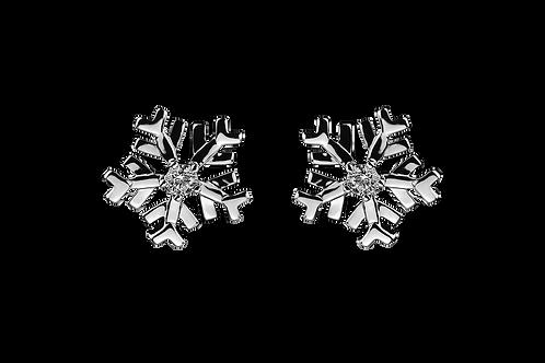 Snowflake Earrings one Diamond