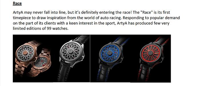 ArtyA Race explanation