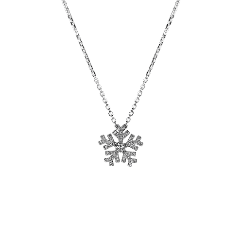 Snowflake Necklace Full Diamonds