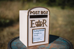 Pale Pink & Gold Post Box