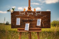 Wooden Table Plan Board