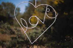 Love Heart Beaded Sign