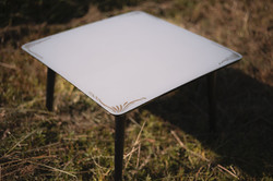 Small Grey and Gold Table