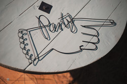 Wire Party Sign