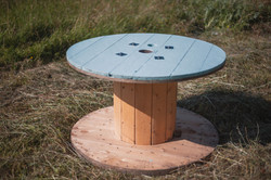 Turquoise Cable Reel Table