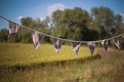 Hessian Bunting with Lace Edge