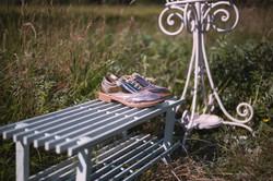 Grey Wooden Shoe Rack