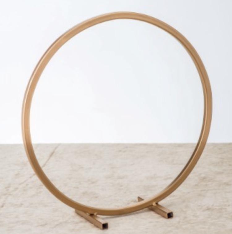 Gold 30cm Floral Metal Hoop