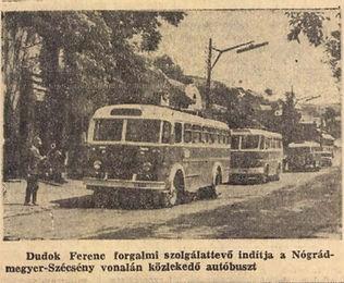 A helyi autóbuszközlekedés története Salgótarjánban | 1962-1969