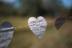 Musical Notes Paper Heart Bunting