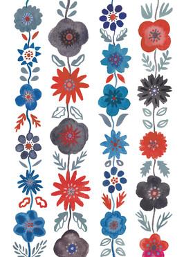 レトロ花柄