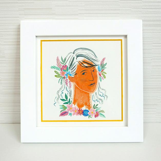 ポートレート 花と彼女