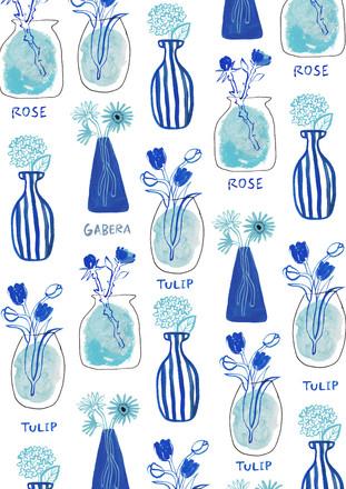 花瓶の花柄