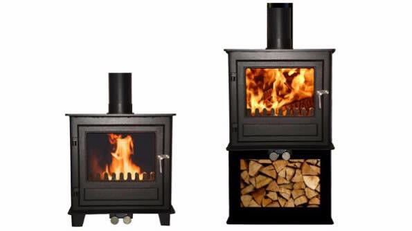 Clock woodburning stove