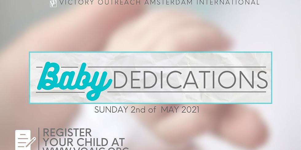 Sunday Service Celebration Baby dedication May 2nd
