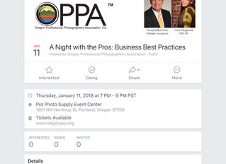 OPPA Event - January 11, 2018