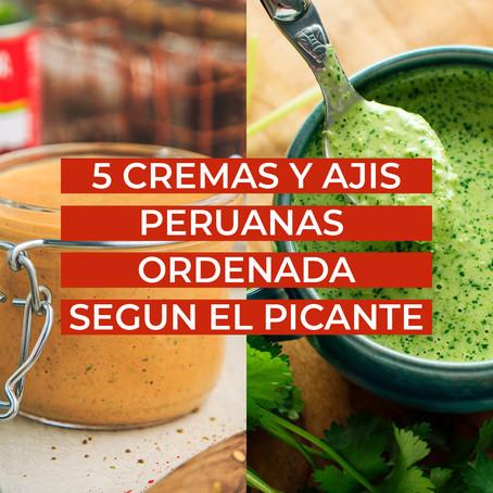 5 Salsas Peruanas Ordenada Según el Picante