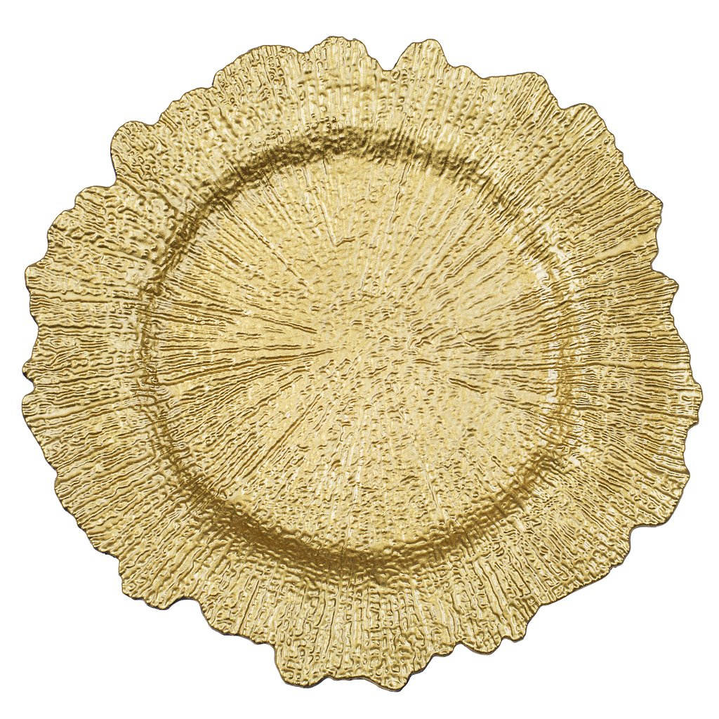 Rental Gold Reef-Acrylic-Charger-Plate