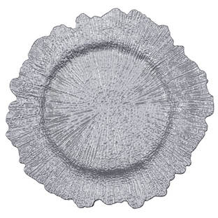 Rental Silver Acrylic-Reef-Charger-Plate-Silver