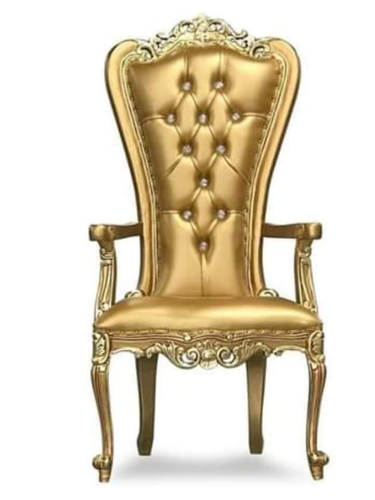 """Golden"" Petite Gold Throne Chair"