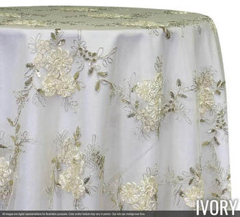 Ivory-Lace-Sheer Overlay 85x85