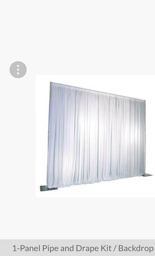 Pipe and Sheer Draps (white or ivory)
