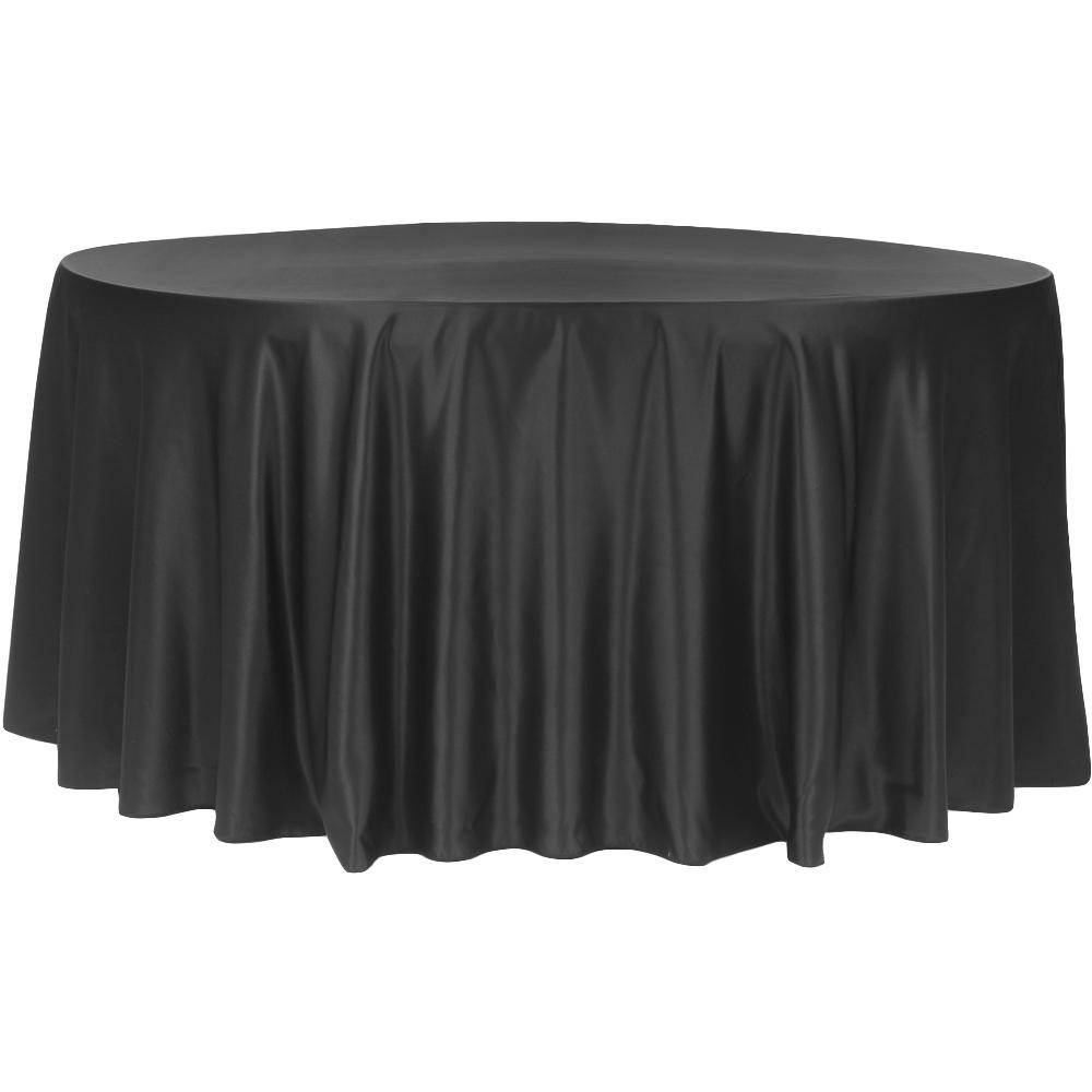 """120"""" Lamour Round-Tablecloth-Black"""