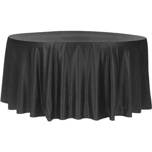 "120"" Lamour Round-Tablecloth-Black"