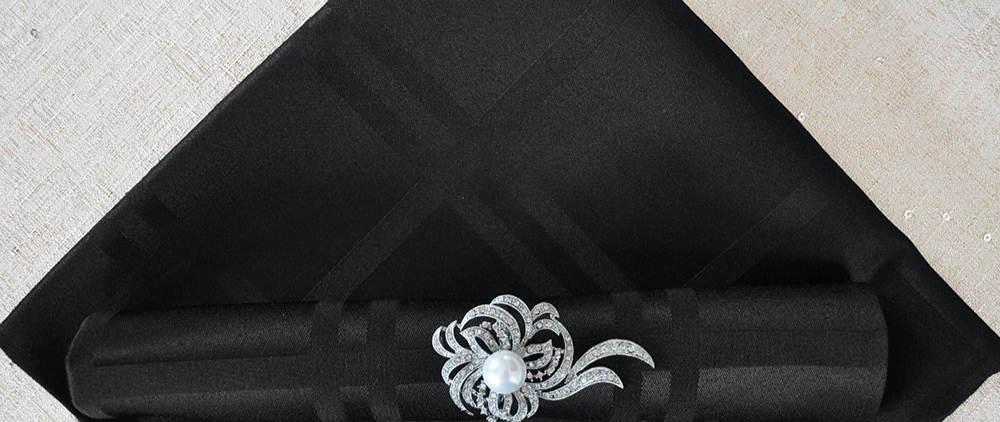 Black Strip Napkin