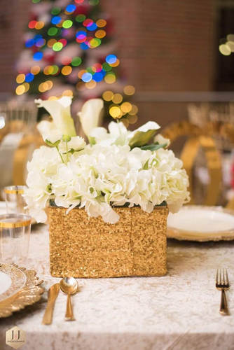 Rental Box(silk) Floral Centerpiece (come in variety of colors) Rental $65.00 each