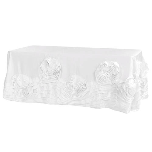 Large-Rosette-Flower-Tablecloth Round or Banquet